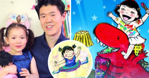 Su hija lloraba porque no había cuentos con niños asiáticos como ella, así que él hizo su deseo realidad