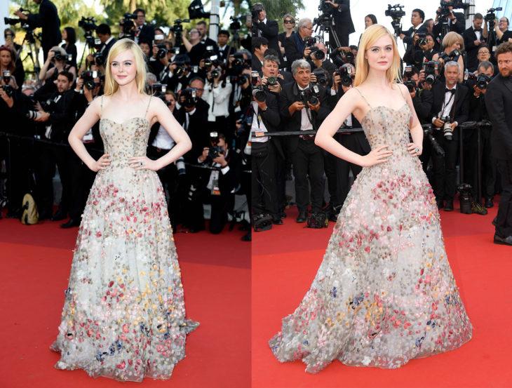 Elle Fanning usando un vestido de Dior