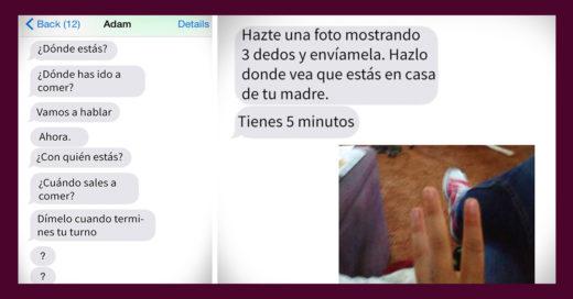 Víctima de violencia doméstica muestra los mensajes que recibió por años; Internet entró en pánico