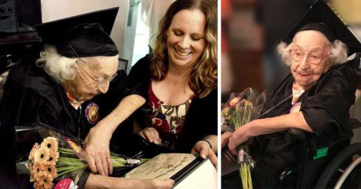 Anciana obtuvo su título de preparatoria a los 105 años; el mundo entero está conmovido