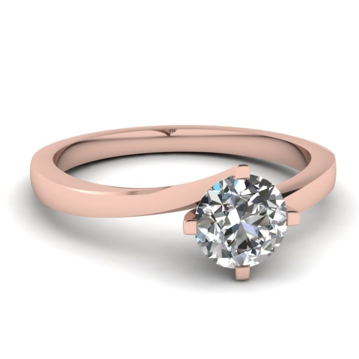 anillo compromiso rose gold 1
