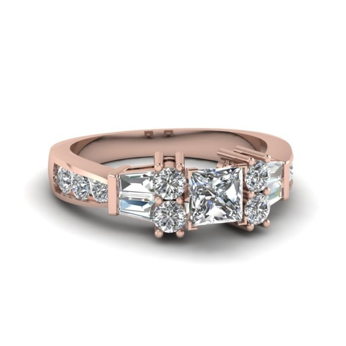 anillo compromiso rose gold 10