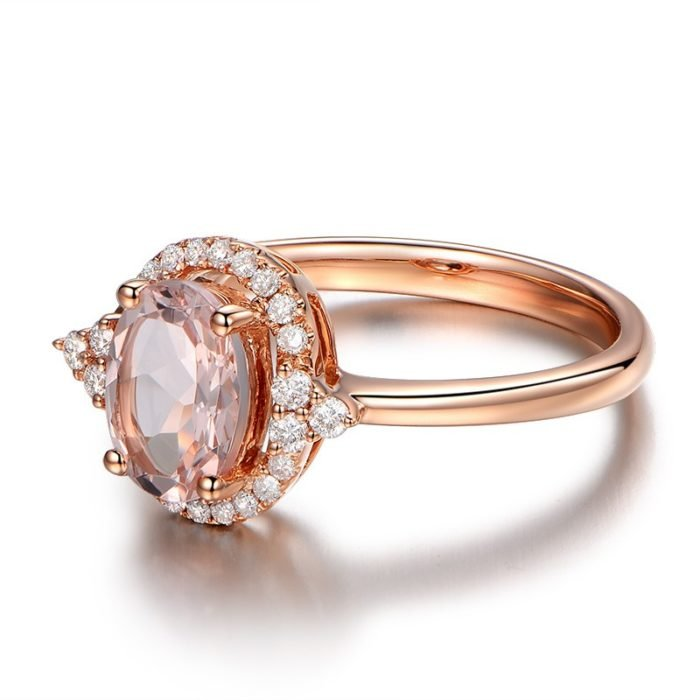 anillo compromiso rose gold 13
