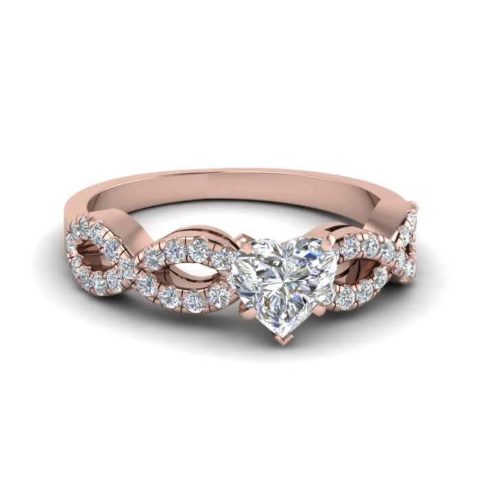 anillo de compromiso rose gold 2