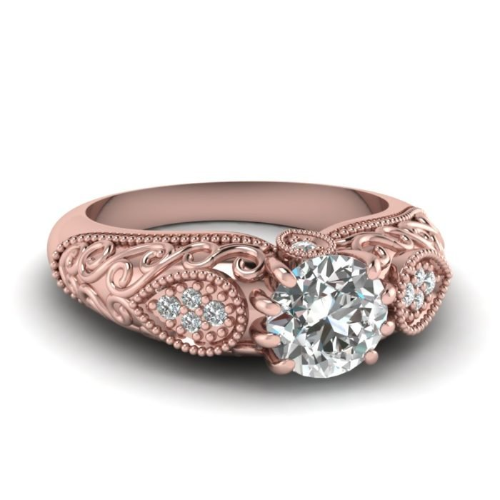 anillo compromiso rose gold