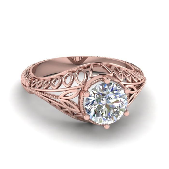 anillo compromiso rose gold 7