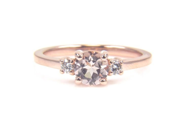 anillo compromiso rose gold 8