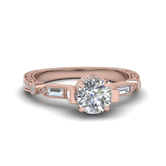 anillo de compromiso rose gold 4