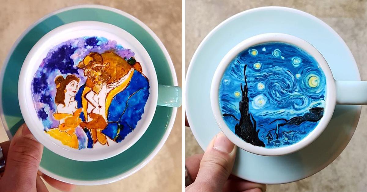 Un barista de Corea del Sur transforma el café en verdaderas obras de arte