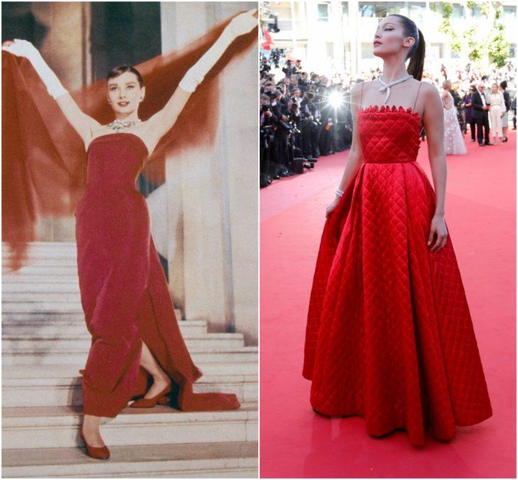 bella hadid cannes 2017 vestido rojo