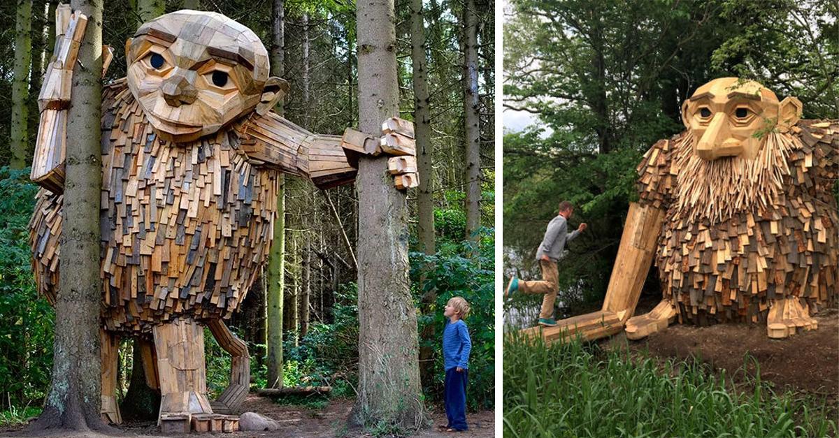 Este bosque de Copenhague esta lleno de gigantes y solo los valientes se atreven a entrar