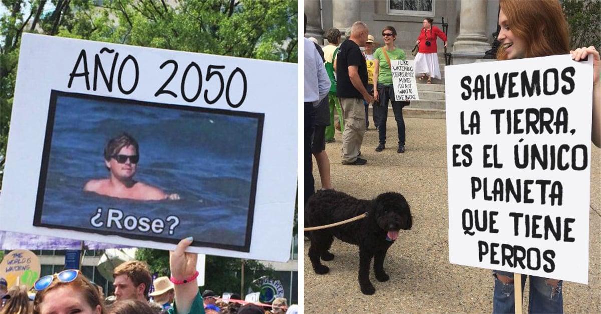 20 Divertidos carteles que pudimos ver en la marcha contra el cambio climático