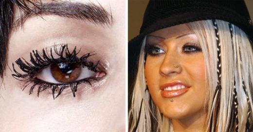 15 Errores de maquillaje que vimos en el 2000