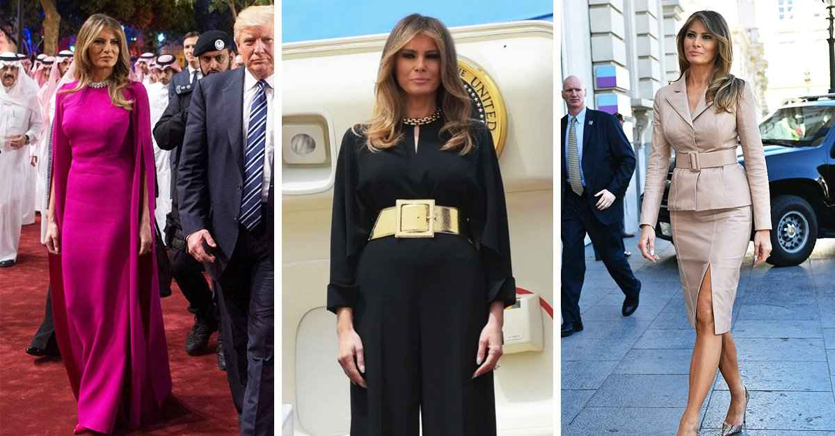 10 Increibles outfits que demuestran el gran estilo de Melania Trump