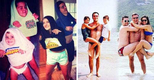20 Familias que recrearon los memores momentos de su infancia se una manera divertida