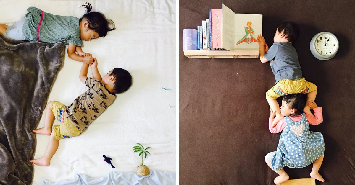 Estos gemelos tienen las mejores fotos de su infancia, todo gracias a su mamá