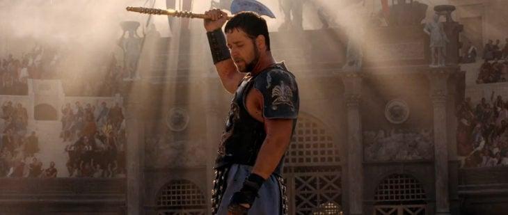 la muerte de gladiador