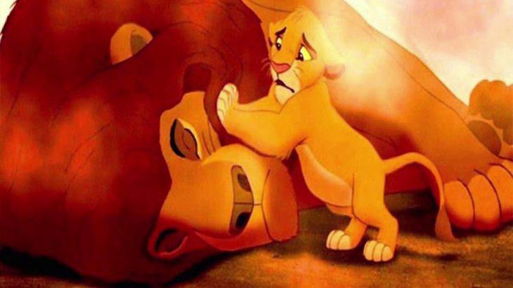 la muerte de mufasa el rey león