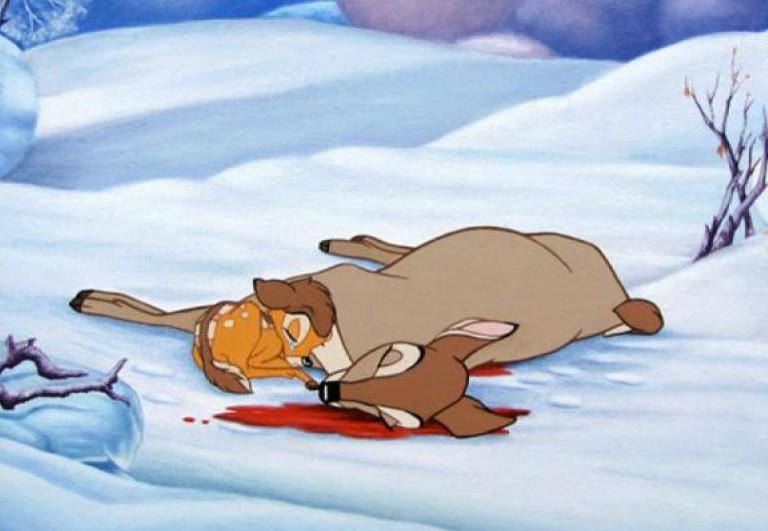 la muerte de la mamá de bambi