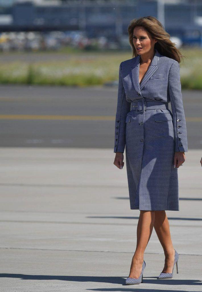 10 Outfits que demuestran el gran estilo de Melania Trump