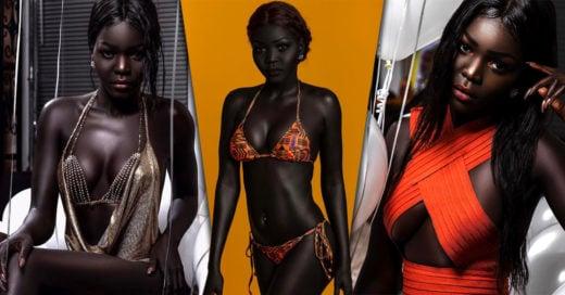 """Esta hermosa modelo de Sudán es conocida como """"Queen of Dark"""" gracias a su increíble piel"""