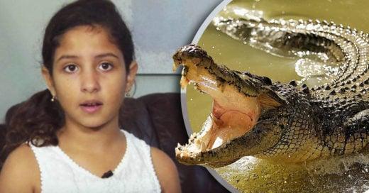 Pequeña de 10 años es atacada por un lagarto e increíblemente se liberó ella misma