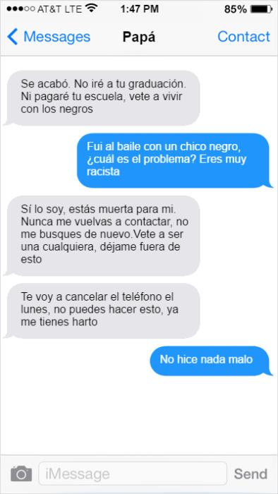 Conversación padre e hija