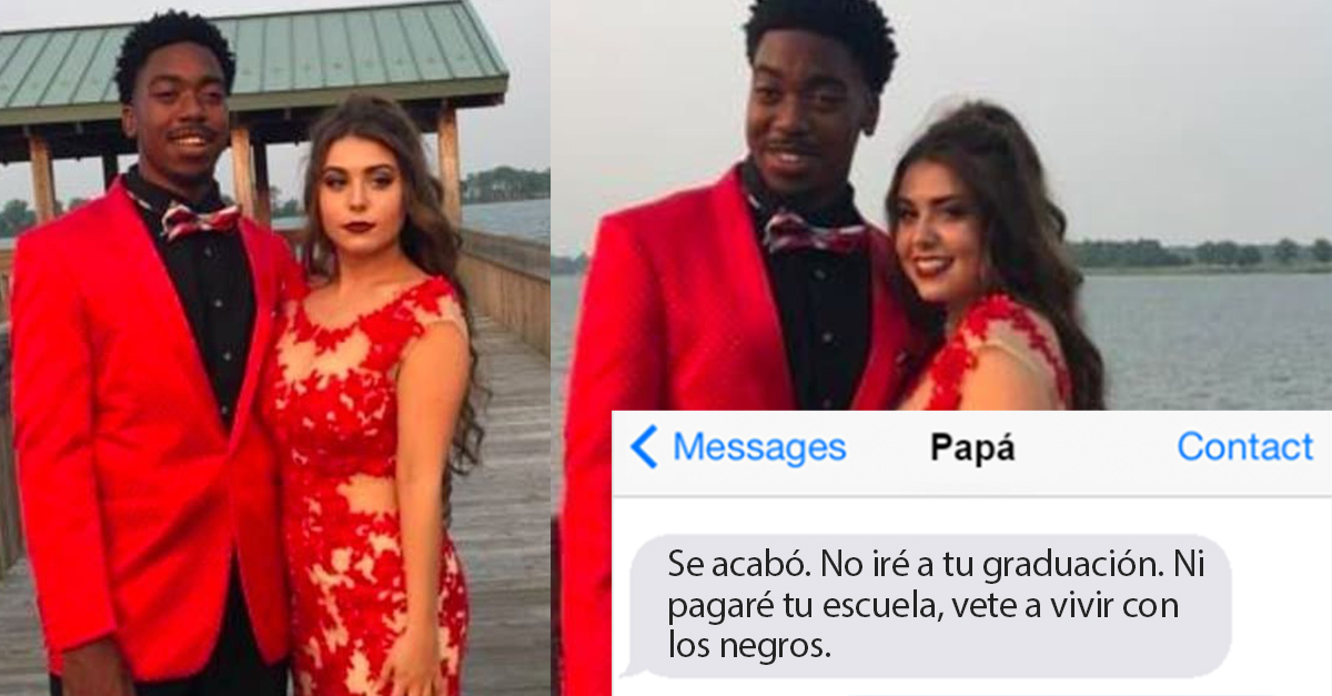 El padre de esta chica la rechazó por salir con un chico de color