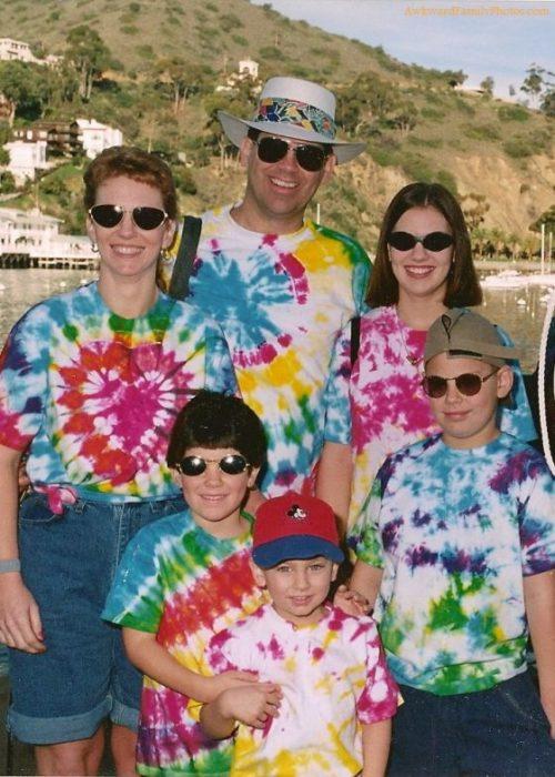 Familia de los 90's de vacaciones