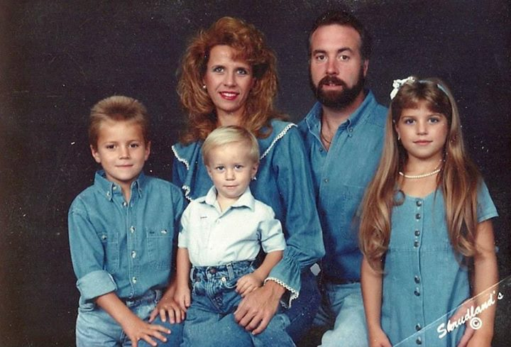 Foto familiar de los 90's
