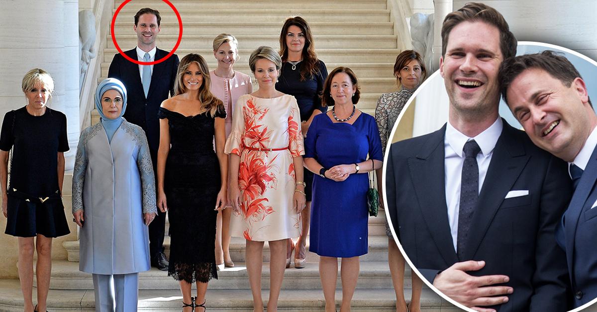 Por primera vez, un hombre posa en foto de Primeras Damas durante cumbre de la OTAN