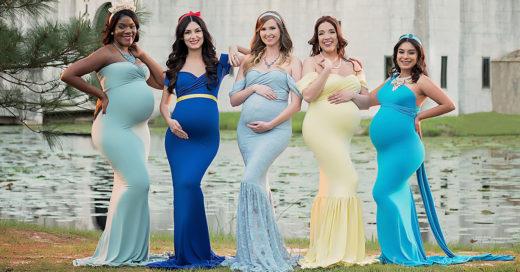 Hermosa sesión de fotos de princesas embarazadas