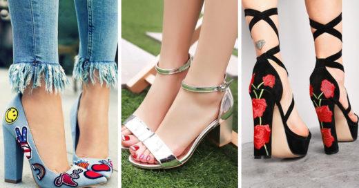16 Estilos de zapatos para enamorarte del regreso del 'tacon cuadrado'