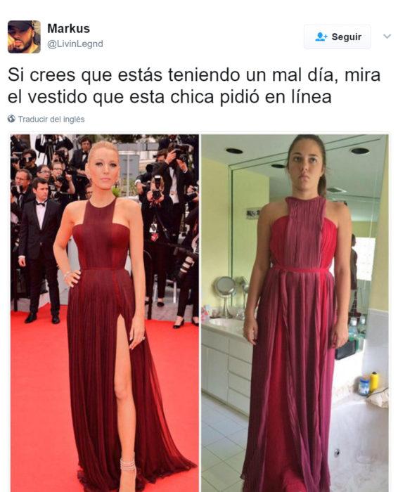 Vestidos que fueron un fraude