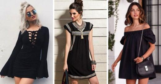 15 Vestidos negros que te harán lucir elegante y fashionista