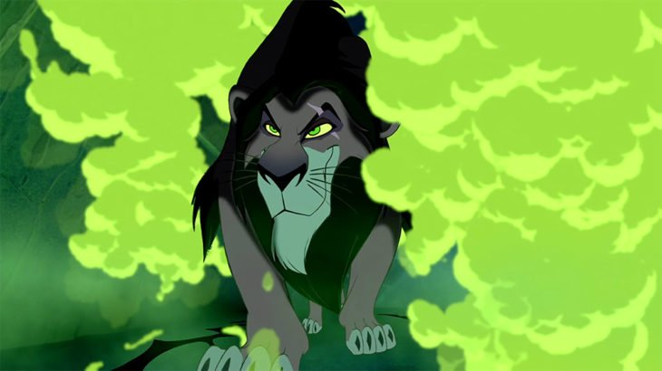 caricatura de leon scar villanos de Disney