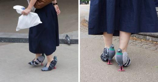 Esta mujer ha creado los zapatos más disparatados; tienen forma de paloma e Internet se vuelve loco