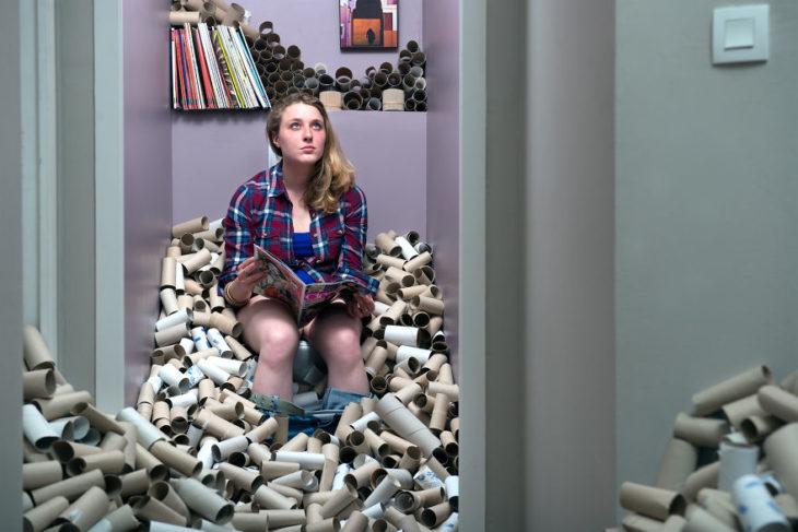 365 unoacked tubos de cartón de papel de baño