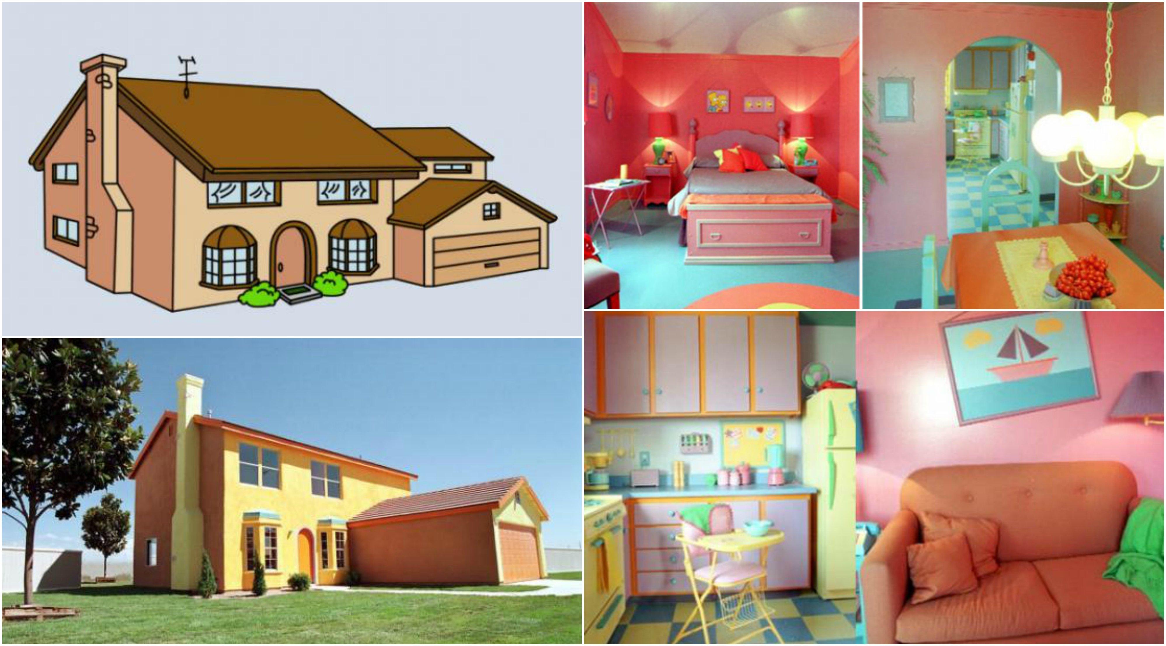 10 casas de caricaturas que existen en la vida real for Cosas decorativas para la casa
