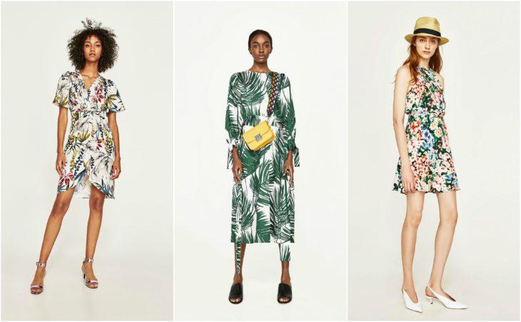 vestidos tropicales zara