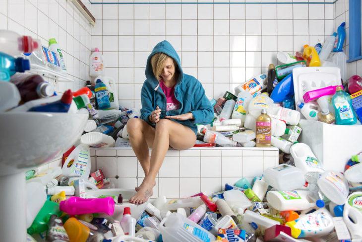 365 unpacked botellas de limpiadores