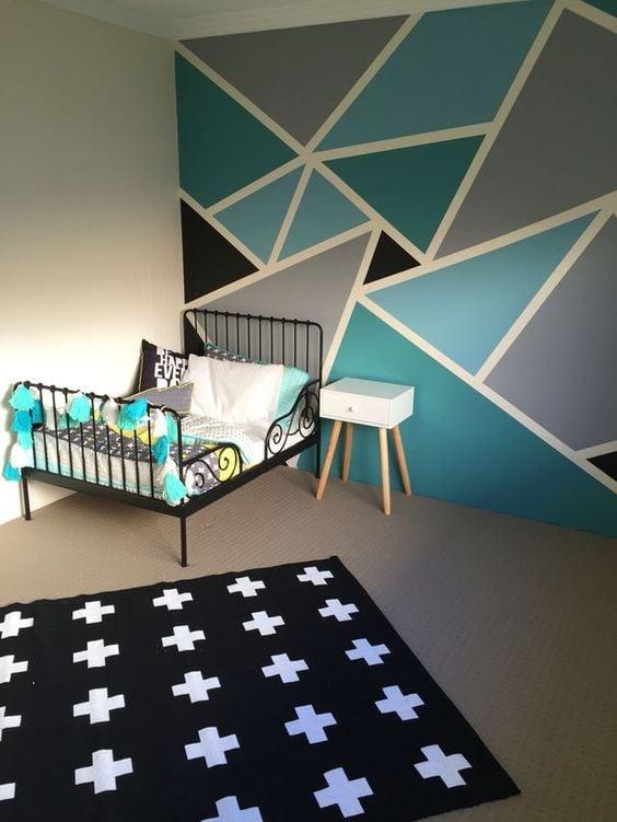 20 ideas para decorar tu cuarto de forma f cil linda for Formas de pintar paredes interiores