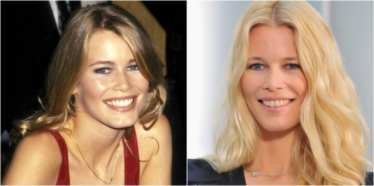 Claudia Schiffer antes despues