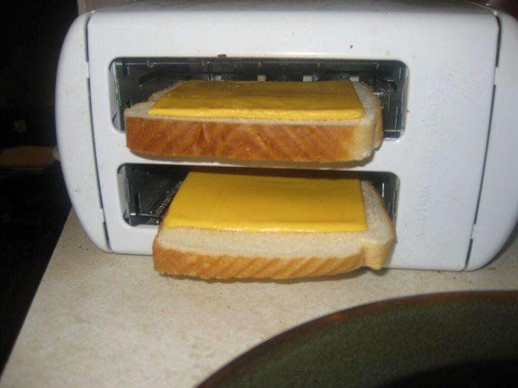 pan tostado con queso