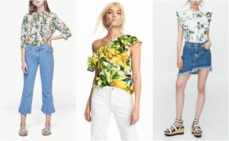 blusas y camisas tropicales