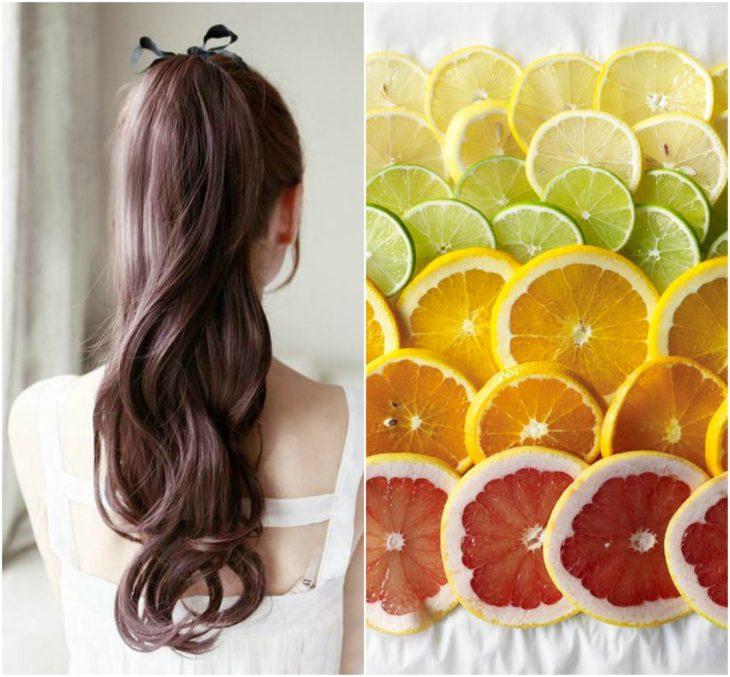 cabello saludable citricos
