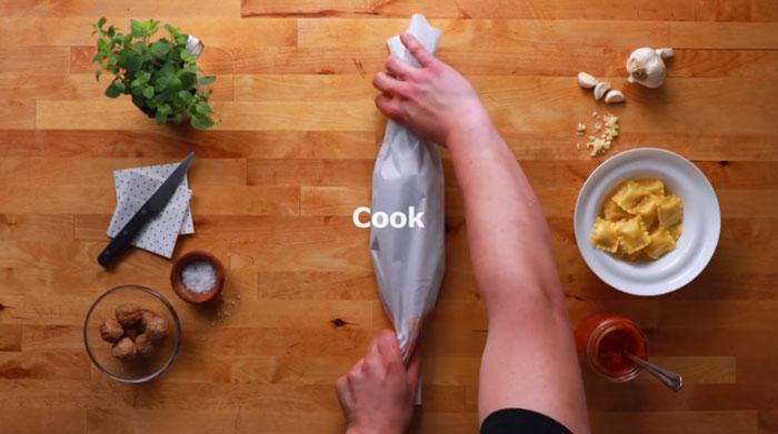 ravioles cocinar