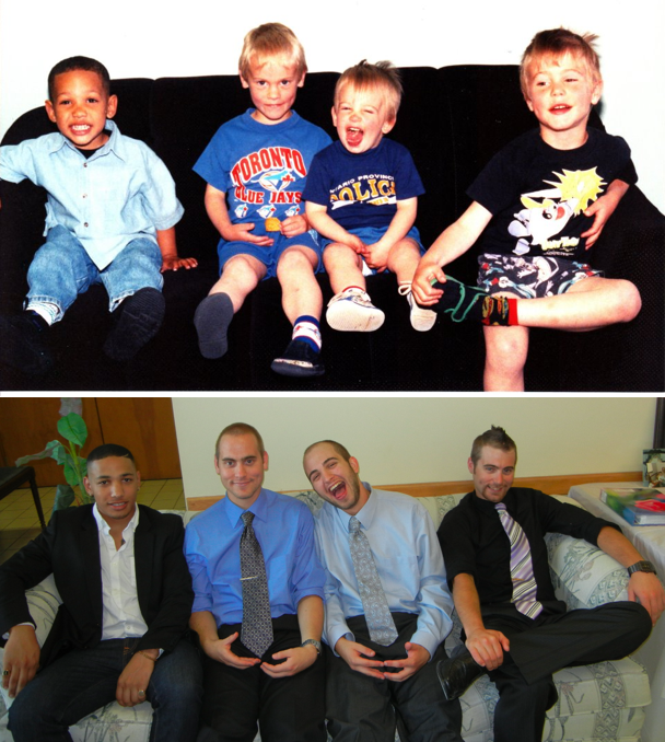amigos antes y ahora