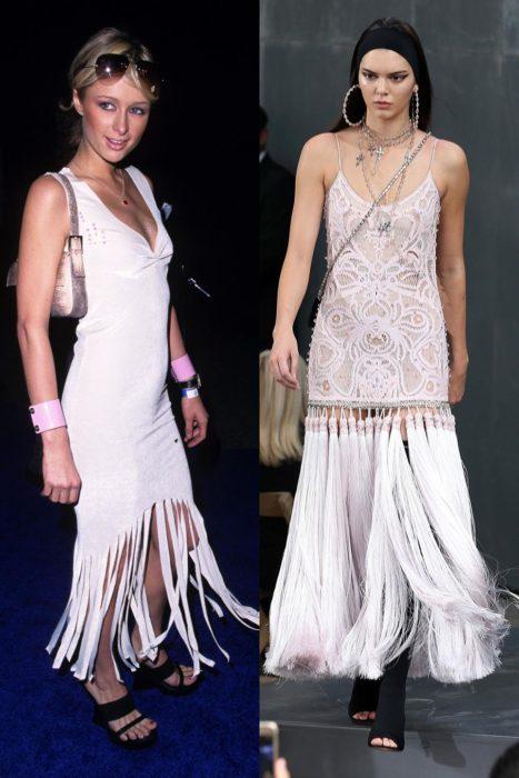 vestidos blancos de flecos