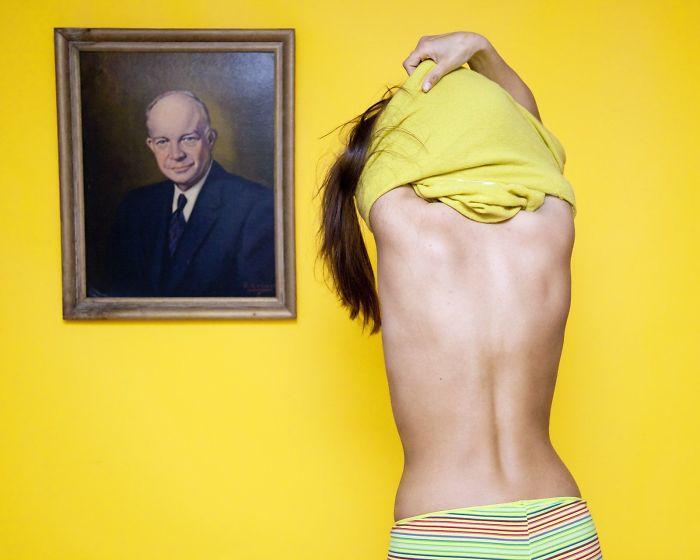 Ohio es ilegal desnudarse frente a un retrato de un hombre